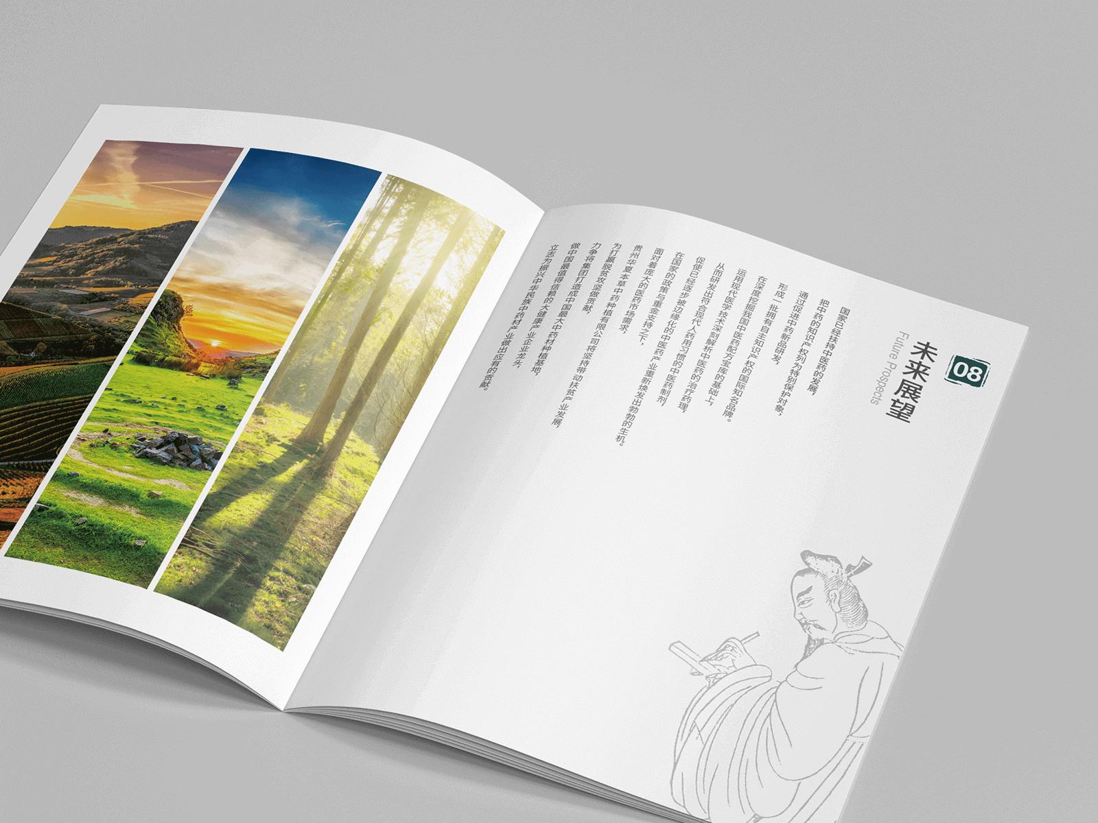 華夏農業畫冊設計